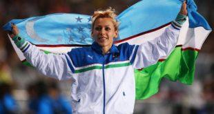 Надия Дусанова баландликка сакраш бўйича Осиё чемпионига айланди