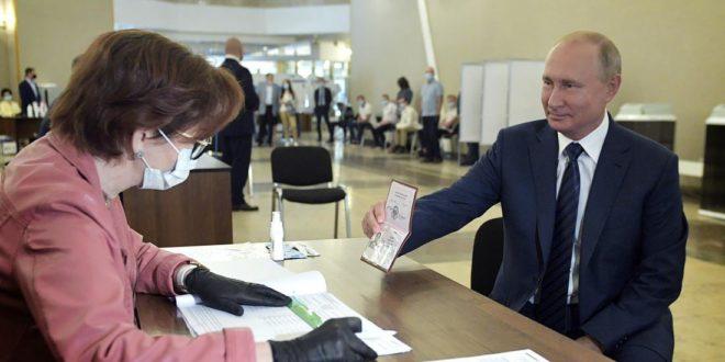Россияликларнинг купчилиги «ха» деди. Конституция буйича референдум натижалари эълон килинди