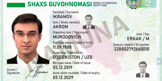 2021 йил 1 январдан идентификация ID-карталари жорий этилади — Президент фармони
